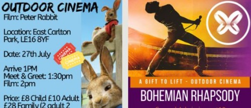 Outdoor Cinema: Peter Rabbit & Bohemian Rhapsody