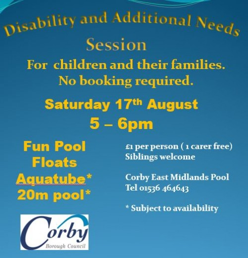 Disability and Additional Needs Swim Session