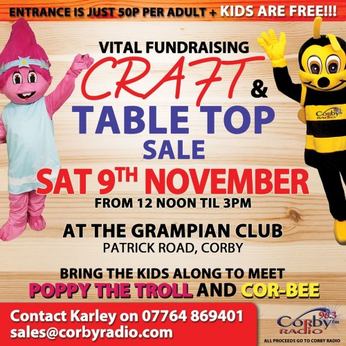 Craft & Table Top Sale