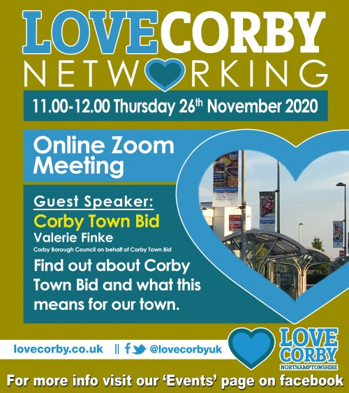 Love Corby Virtual Networking Event
