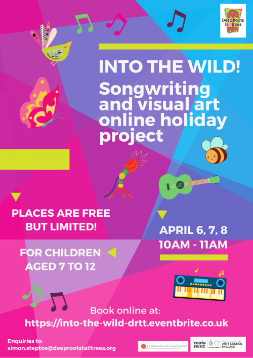 Into the Wild!!!! Online Easter holiday project for children aged 7 to 12